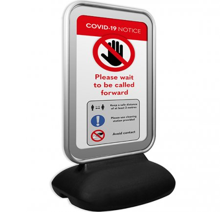 A1 Forecourt Sign with Optional Social Distancing Poster