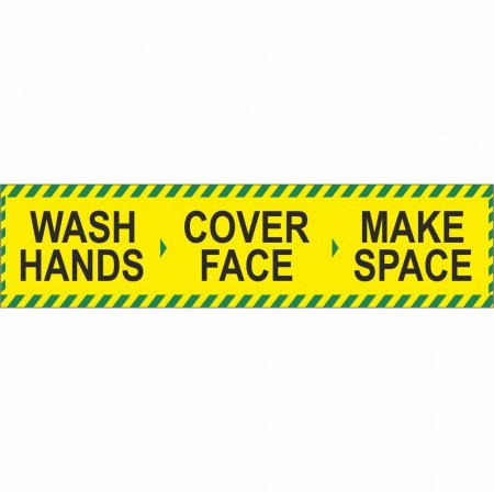 Wash Hands - Cover Face - Make Space Banner
