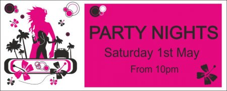 PARTY NIGHTS BANNER