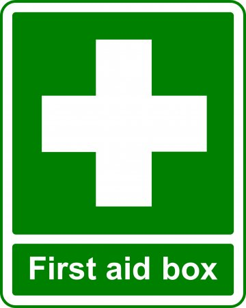 First Aid Box - Safe Condition Sign