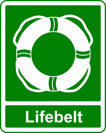 Lifebelt - Safe Condition Sign