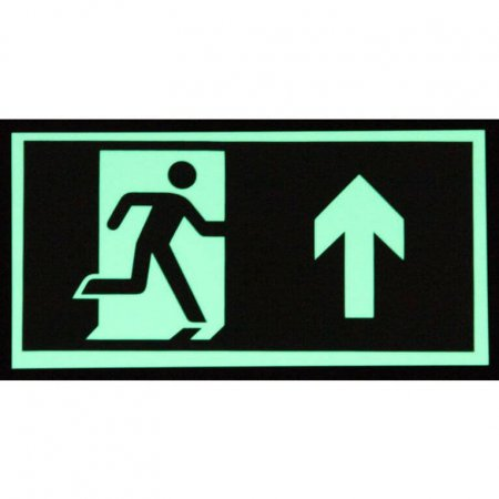 Glow in teh Dark - Emergency Exit Sign - Man with Up Arrow