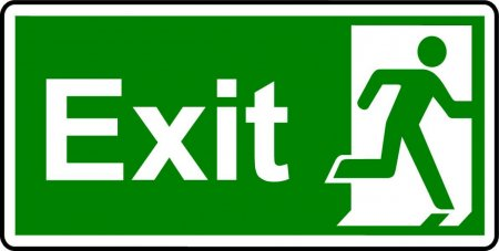 Emergency Exit Sign - Man with the Word Exit