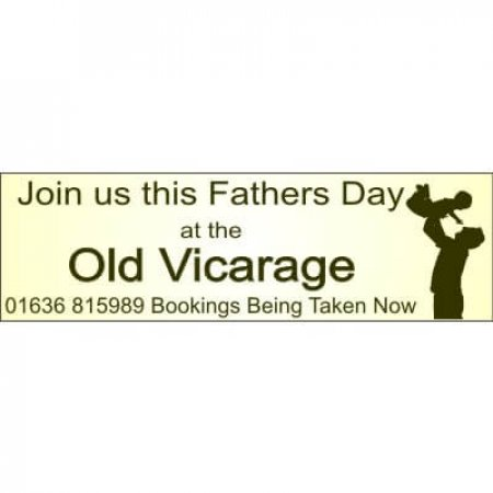 Fathers Day Digitally Printed PVC Banner