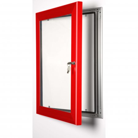 A4 Red Lockable Poster Case