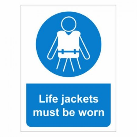 Life Jackets Must Be Worn Signs