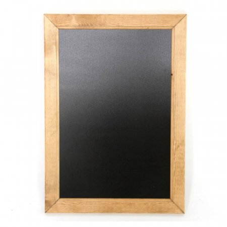 A2 Light Oak Wooden Framed Blackboard