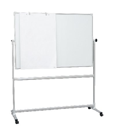 1200 x 900mm Mobile Whiteboards with 360°Revolving Board