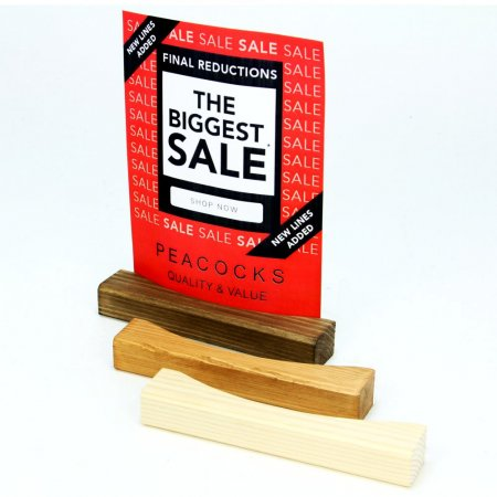 Curved Wooden Menu Holder - All Colours