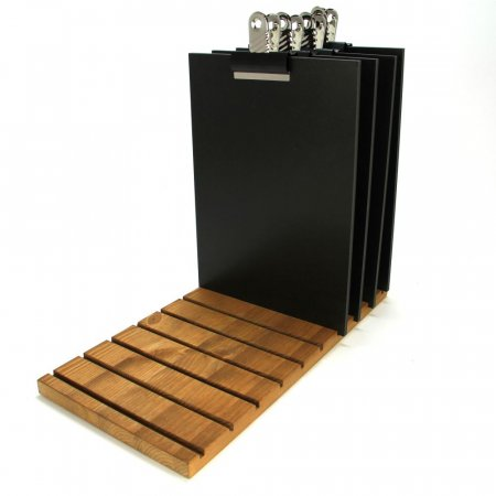 Menu Board Stand with Chalkboard Clipboards