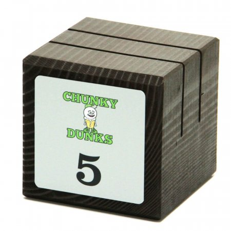 Menu Cube & Table Number with Printed Plate - Chunky Dunks
