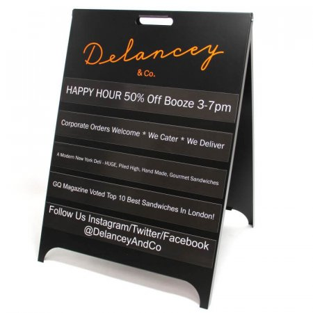 Metal Interchangeable A-board Pavement Sign