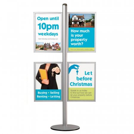 Poster Pole Display - Double Sided Frames