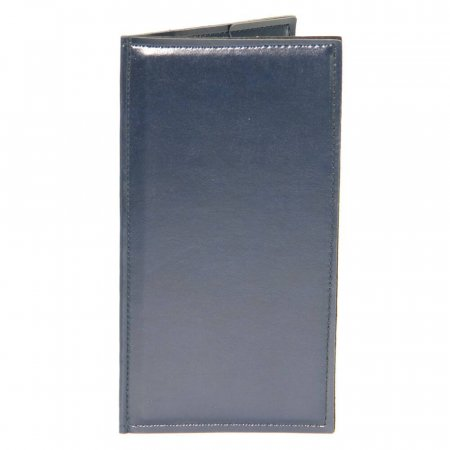 Navy Douglas Slimline Bill Folder Simulated Leather