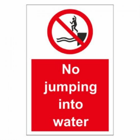 No Jumping into Water Signs