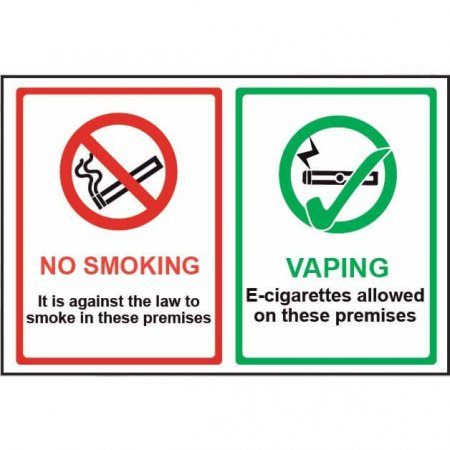No Smoking - Vaping E-cigarettes Allowed Sign