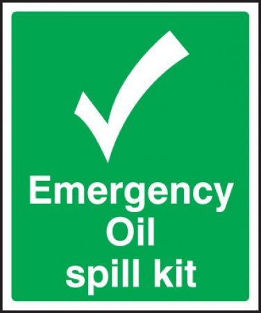 Emergency Oil Spill Kit Sign