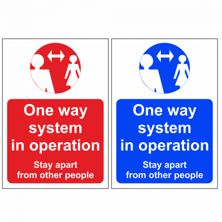 One Way System In Operation Signs