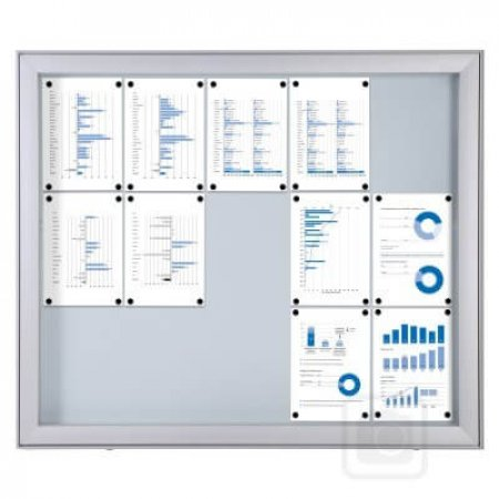 Outdoor Lockable Notice Board with Extra Depth