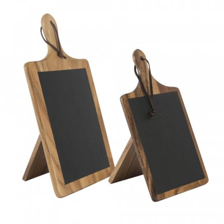 Table Top Paddle Chalkboards with Stand