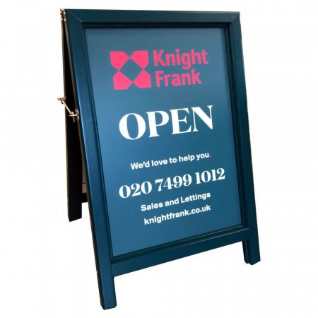 Bespoke RAL 6004 Painted A-board