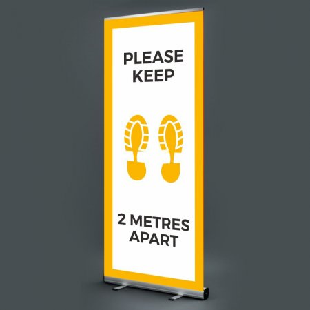 Pull Up Banner - Please Keep 2m Apart