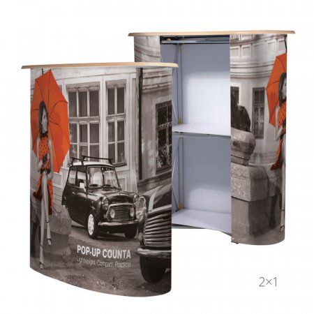 Exhibition Pop-Up Counter 1 x 2