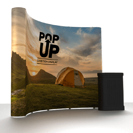Curved Pop Up Exhibition Stand