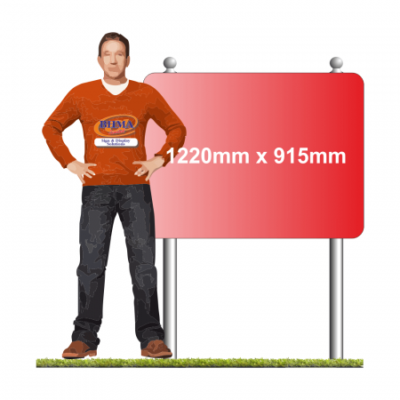 Post mounted sign 1220mm x 915mm