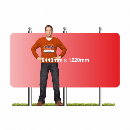Post mounted sign 2440mm x 1220mm