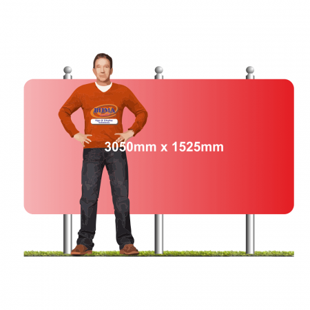 Post mounted sign 3050mm x 1525mm