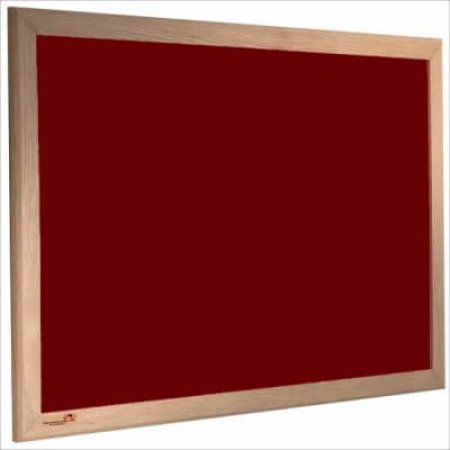 Burgundy Premier Felt Noticeboards with Hardwood Frame