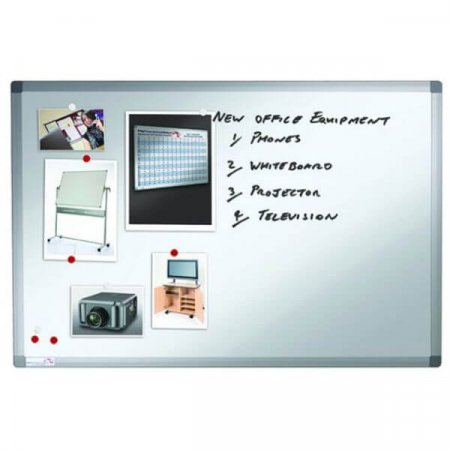 2400 x 1200mm Premium Magnetic Dry Wipe Whiteboard