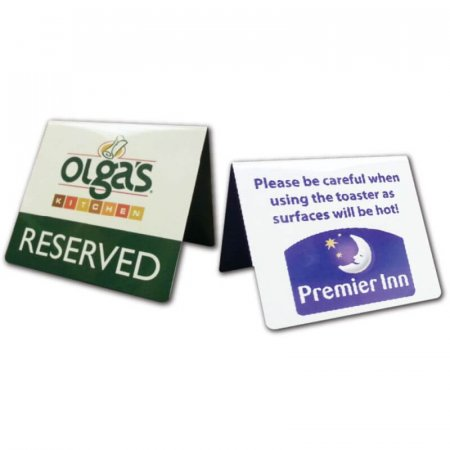 Printed Table Tent Notices