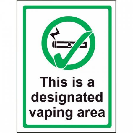 Self Adhesive Window - Designated Vaping Area Sign