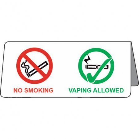 No Smoking - Vaping Allowed - Tent Sign