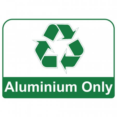 Recycling Sign - Aluminium Only
