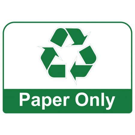 Recycling Sign - Paper Only