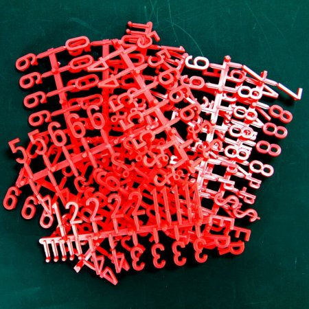 Red Peg Board Letters and Numbers