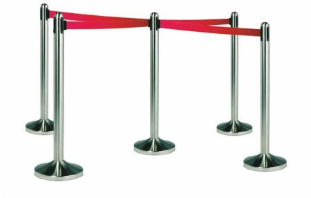 Red Retractable Barrier System
