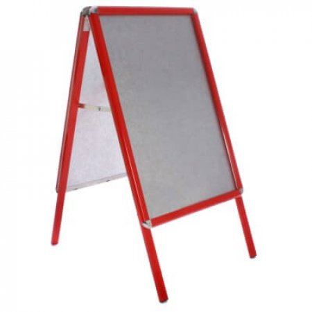 red snap frame a-board pavement sign