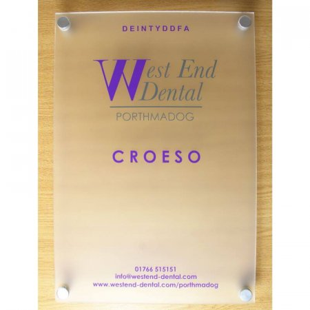 Satin Ice Wall Signs, Frosted Acrylic