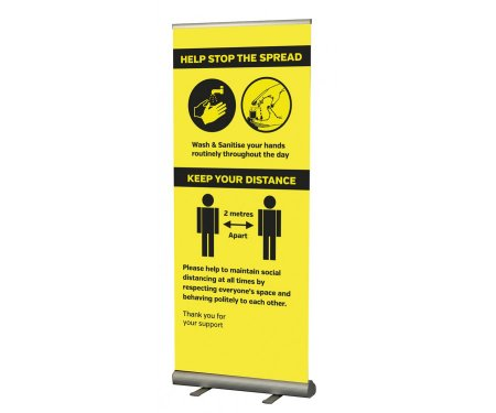 Help Stop The Spread Pull Up Banner