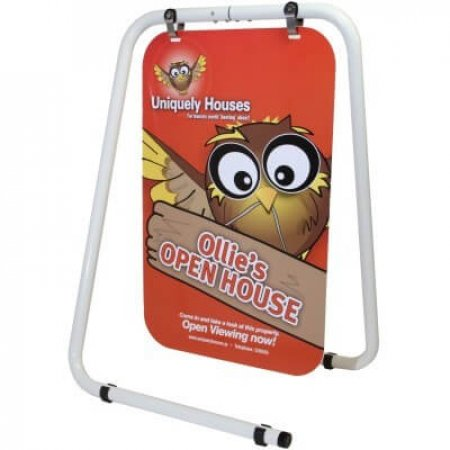 Side View Panel Swing Pavement Sign