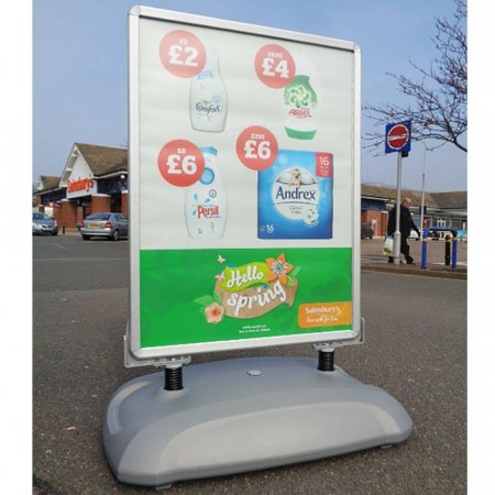 Sightmaster 3 Forecourt Sign - Silver
