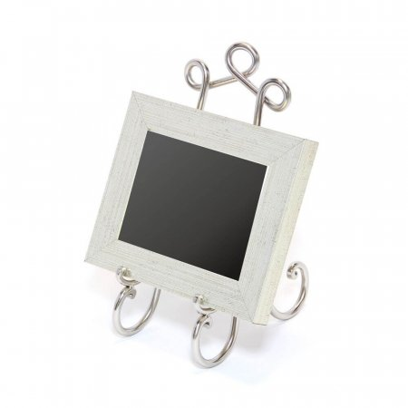 Small Silver Nickel Easel with chalkboard