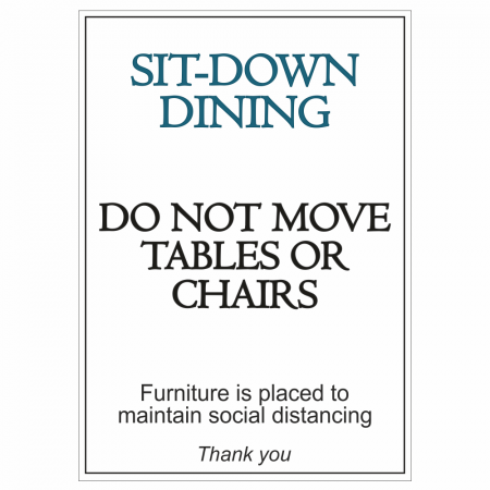 Sit-Down Dining Sign