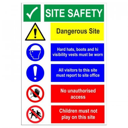 Site Safety Sign - Enter Your Text