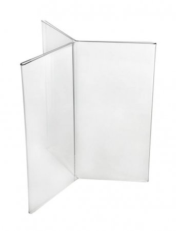 1/3A4 6 Sided Acrylic Menu Holder