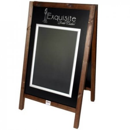 Wooden A-boards & Snap Frame Exquisite Bridal